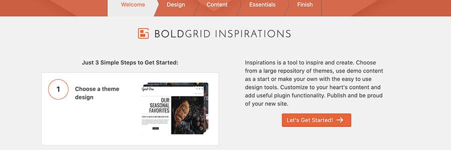 BoldGrid's 3-step outline