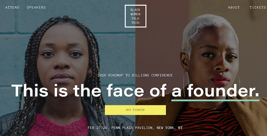 The Black Women Talk Tech home page.