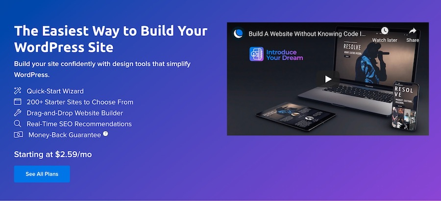 The WP Website Builder Landing Page
