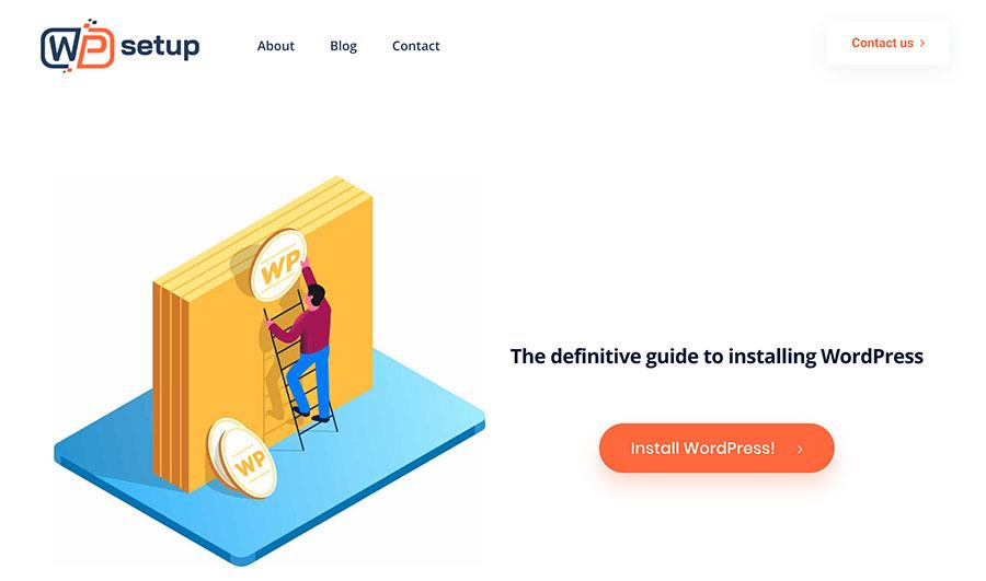 WPsetup homepage
