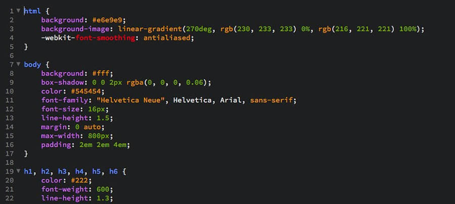 The Brackets code editor.