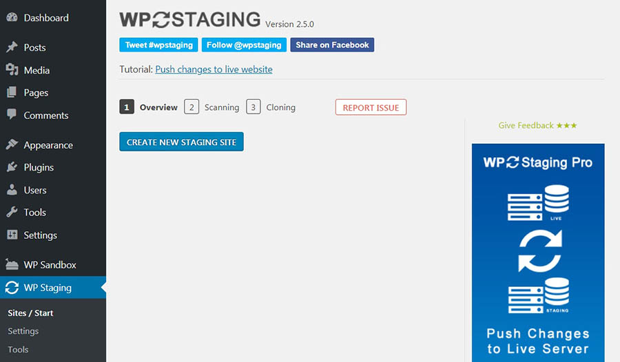 WP Staging Admin