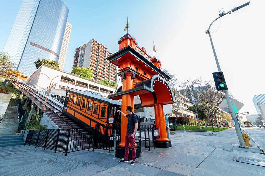 Angels Flight Railway. Photo by Christina Champlin.