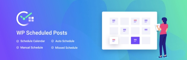 The WP Scheduled Posts plugin banner