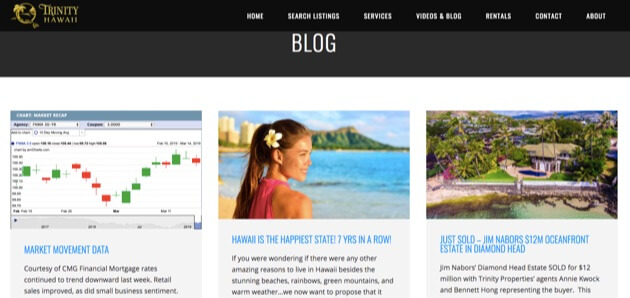The Trinity Hawaii real estate blog.