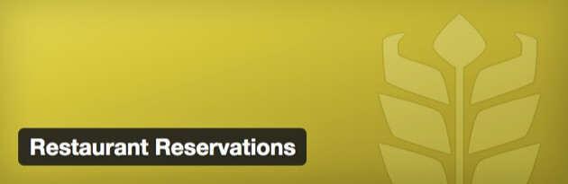 The Restaurant Reservations plugin banner.