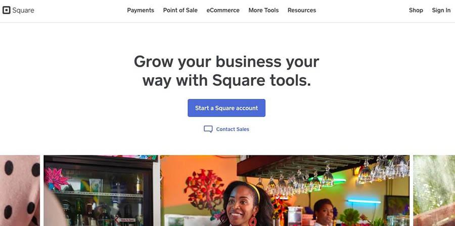 وب سایت Square