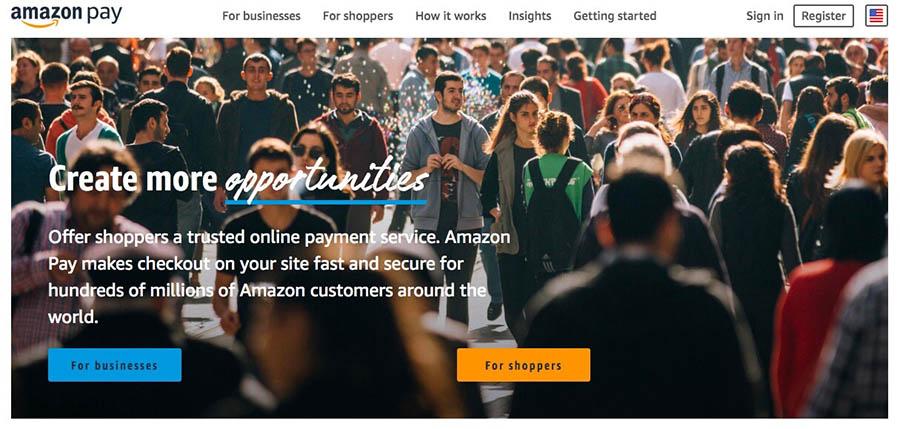 وب سایت Amazon Pay.