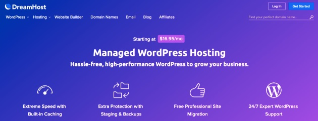 Managed WordPress hosting at DreamHost.