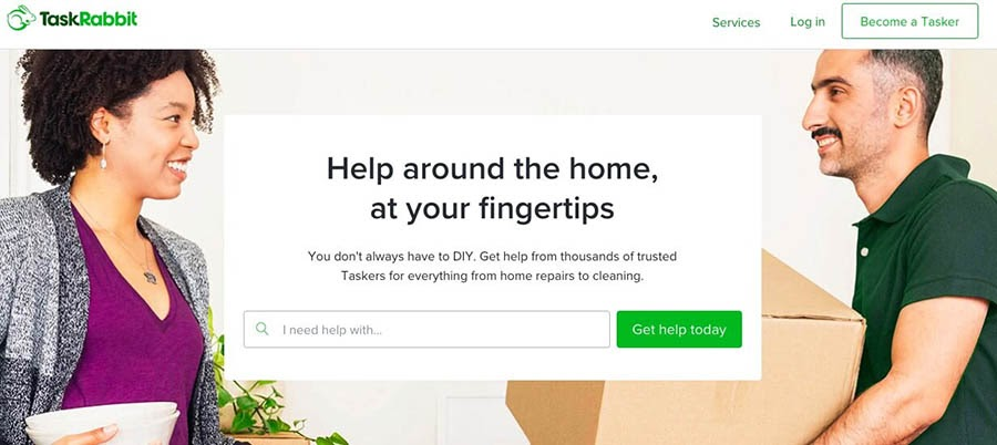 The TaskRabbit freelance website.