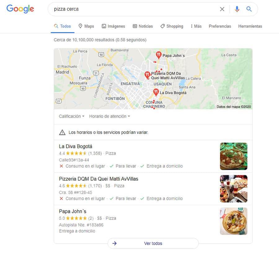 Busqueda en Google Maps