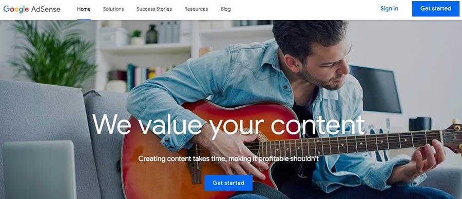 """Google's AdSense platform."""