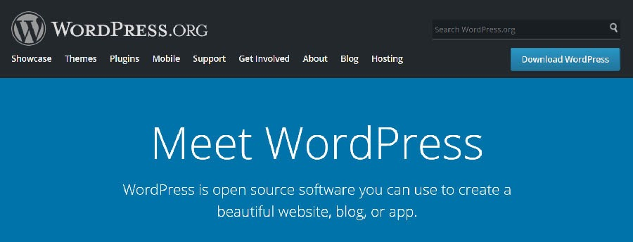 """""""The WordPress home page."""""""