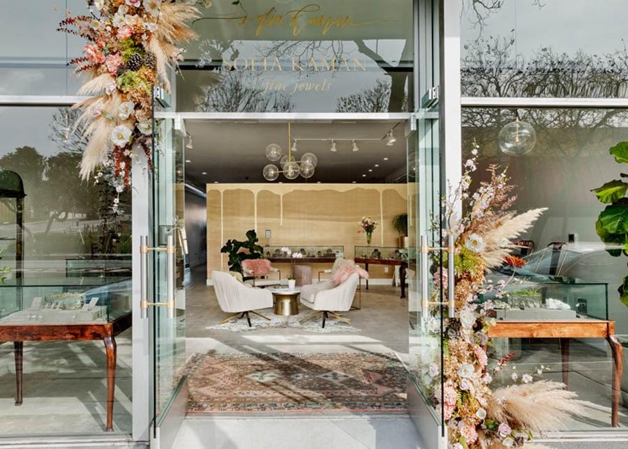 Sofia Kaman Fine Jewels storefront.