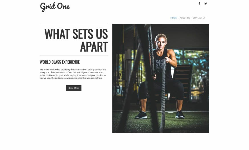 Grid One's fitness layout.