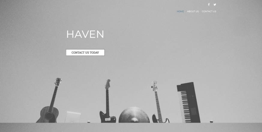 The Haven theme.