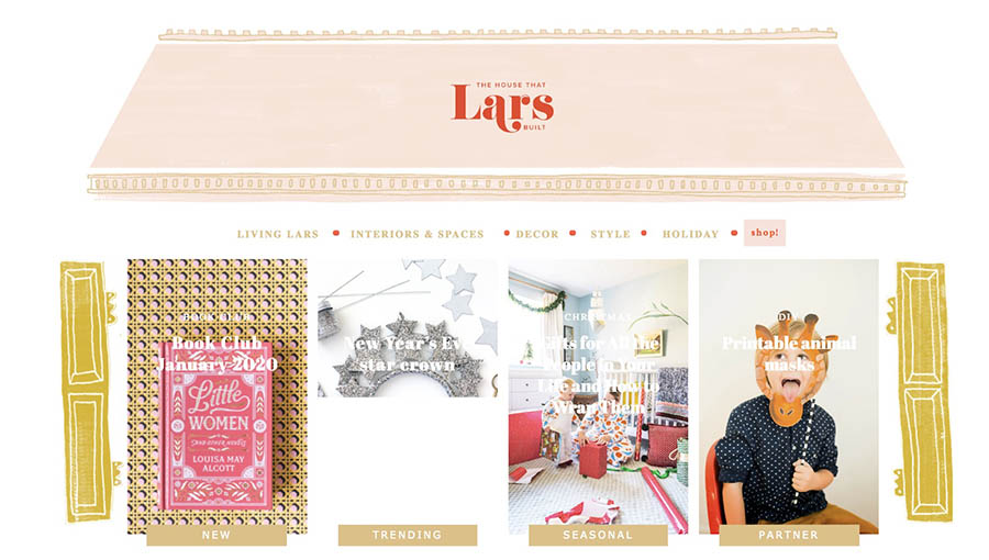 La página de inicio de The House That Lars Built