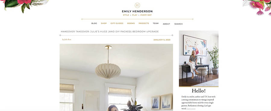 El blog de Emily Henderson.