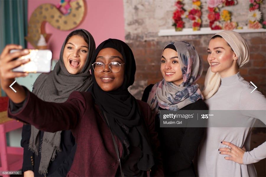 ejemplo de una imagen de stock de la colección de MuslimGirl.com