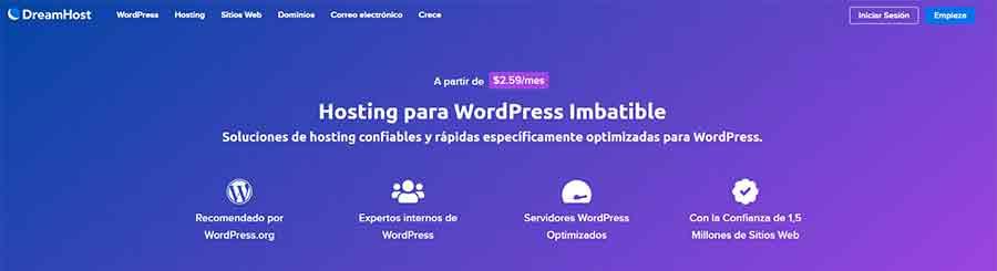 WordPress administrado en DreamHost