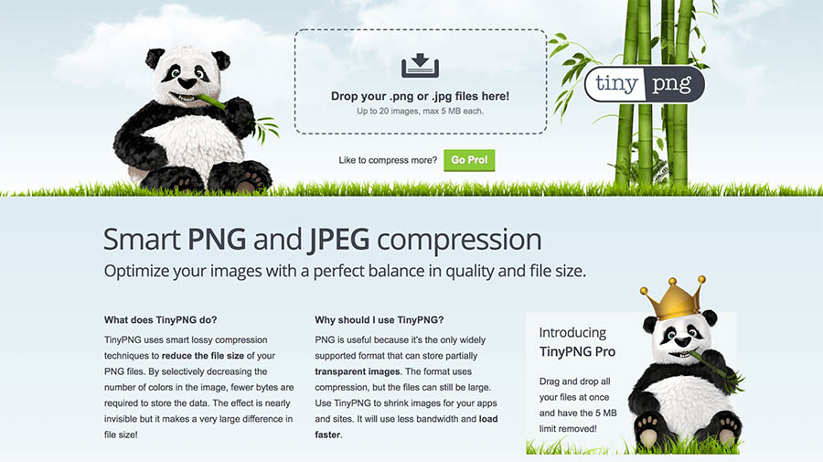 TinyPNG página