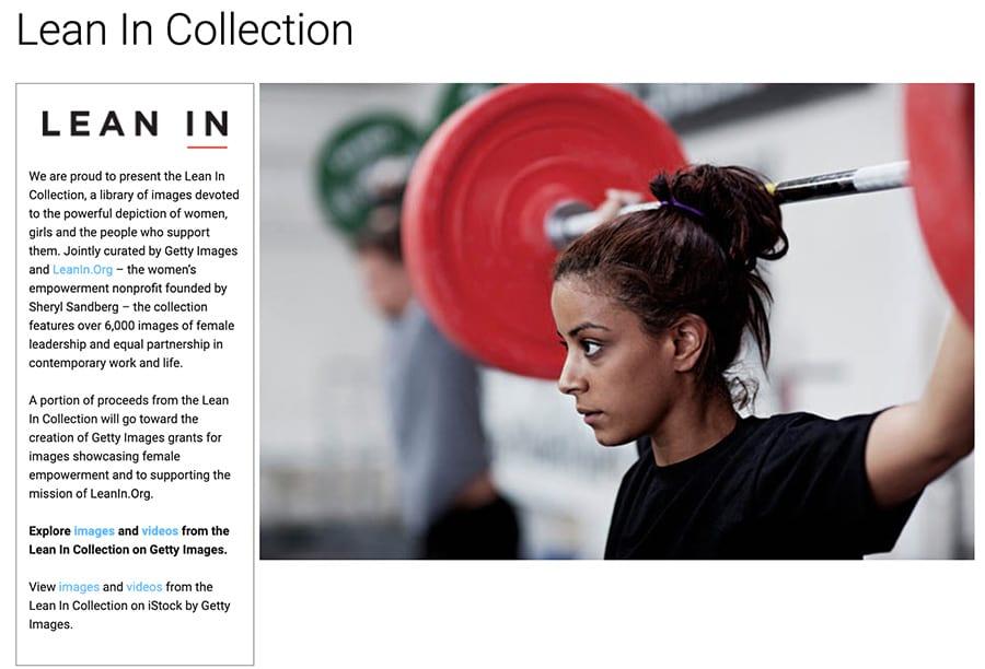 Página de inicio de Lean In collection