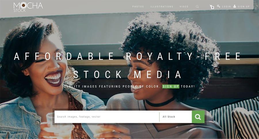 La página de inicio de mochastock.com