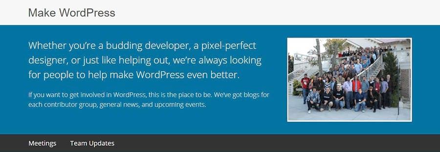Página de ¨Make WordPress¨