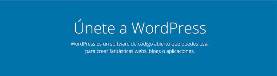 WordPress página inicio