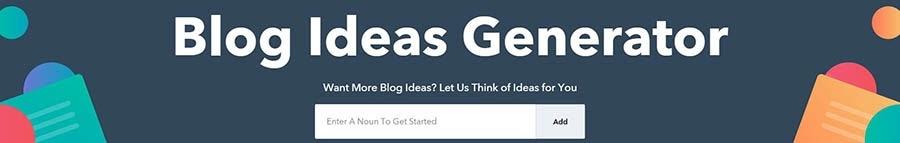 Generador de ideas de blog HubSpot.