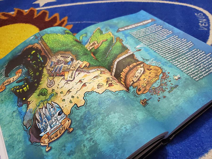 Un mapa del mundo de Outage en el libro de reglas básicas.