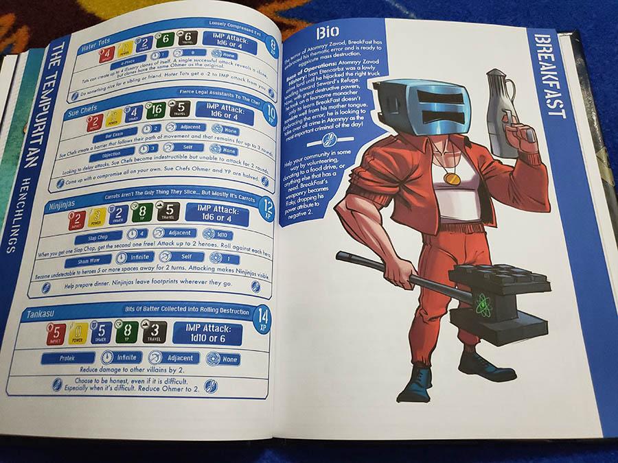 """""""BreakFast"""" Descripción de personaje en el libro de reglas básicas de Power Outage."""