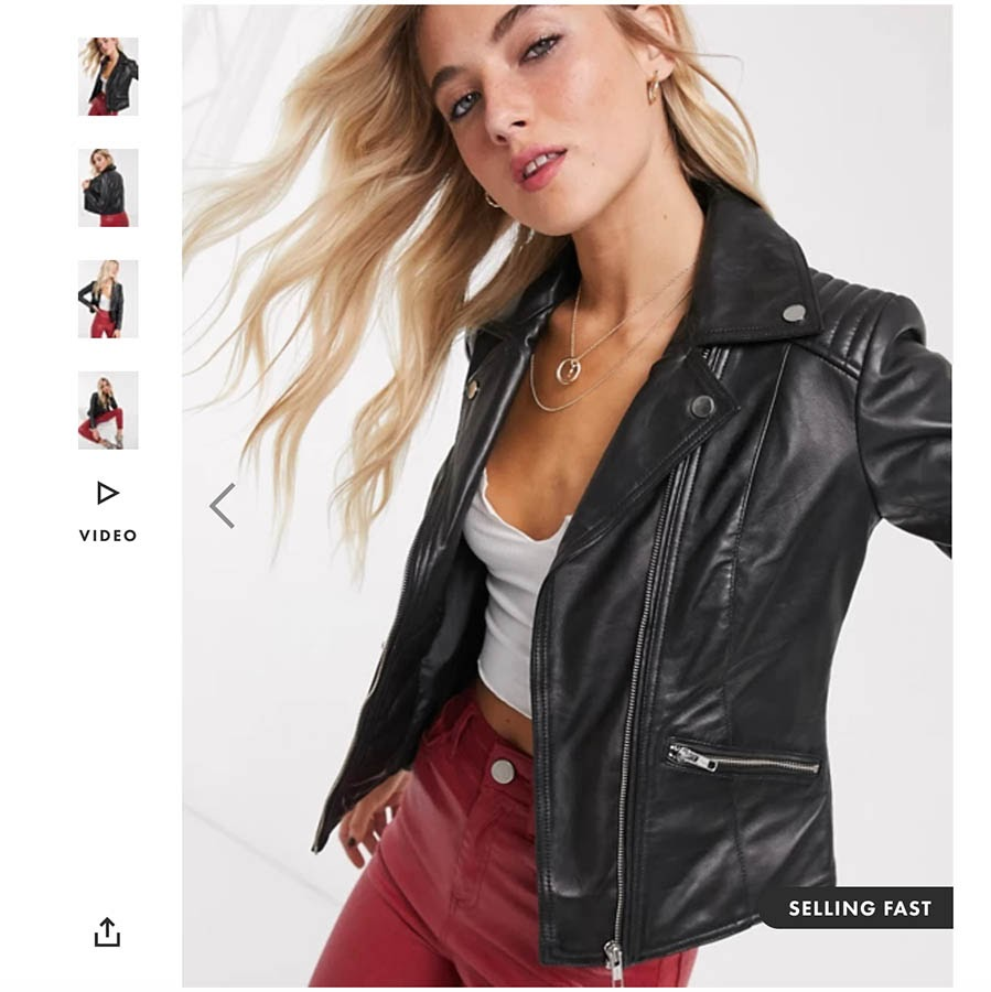 Example of ASOS product page listing.