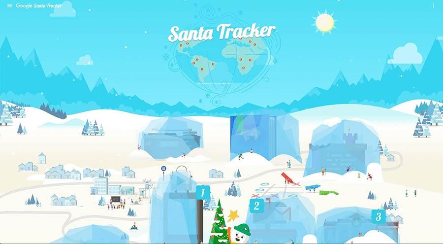 Google's Santa Tracker website.