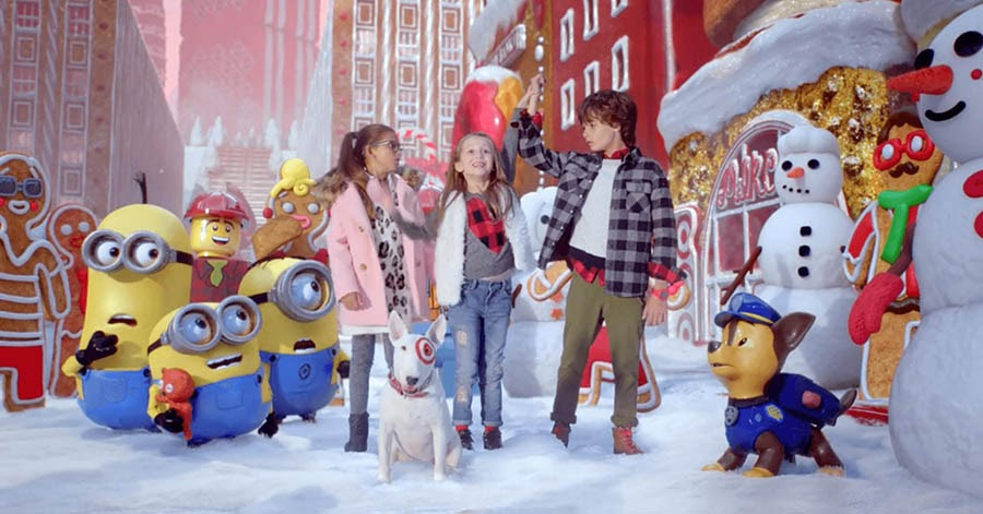 Screenshot from Target's Holiday Odyssey advertisement.