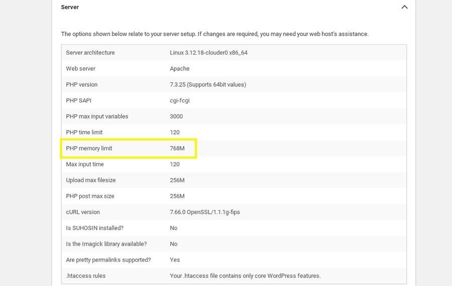 Cómo revisar el límite de memoria PHP de tu sitio.