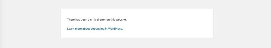 Un mensaje de error de sintaxis de WordPress