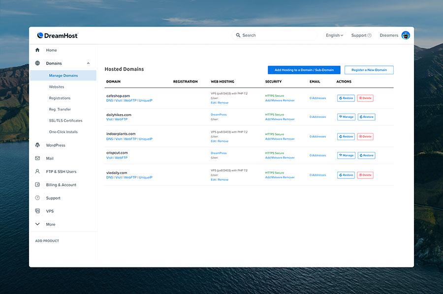 Dreamhost green wordpress hosting provider