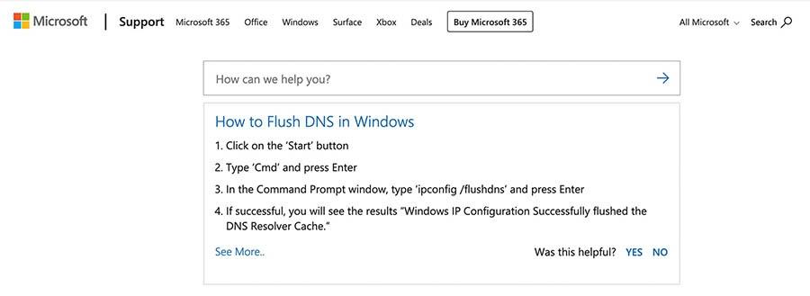 Eliminando el caché de DNS en Windows.