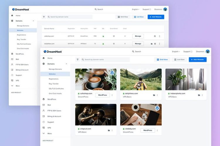 We Revamped the DreamHost Control Panel to Make Managing Sites Easier thumbnail