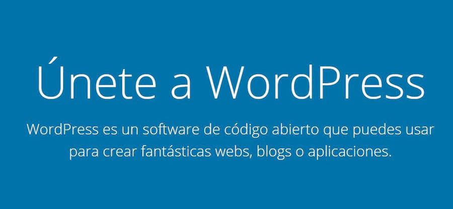 Página inicial de WordPress.org en español