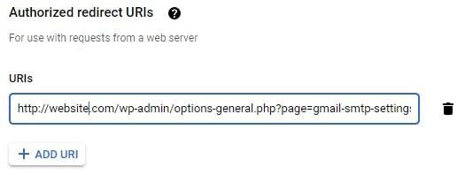 Añadiendo una URL autorizada de redirección.