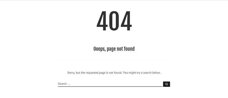 Una página 404 personalizada.