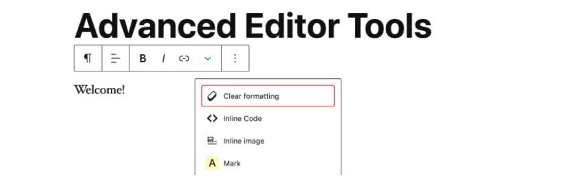 El plugin Advanced Editor Tools.
