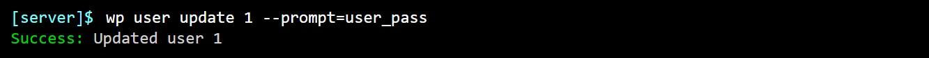 El comando para actualizar la contraseña de un usuario en la herramienta WP-CLI.