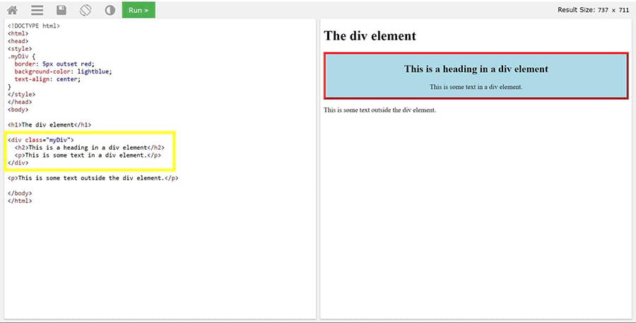 Páginas con formato correcto de etiquetas <div> en una página.