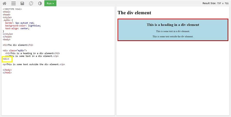 Etiquetas incorrectas<div> causando que algunos elementos aparezcan en el lugar incorrecto.