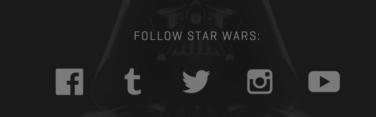 Barra de redes sociales en StarWars.com