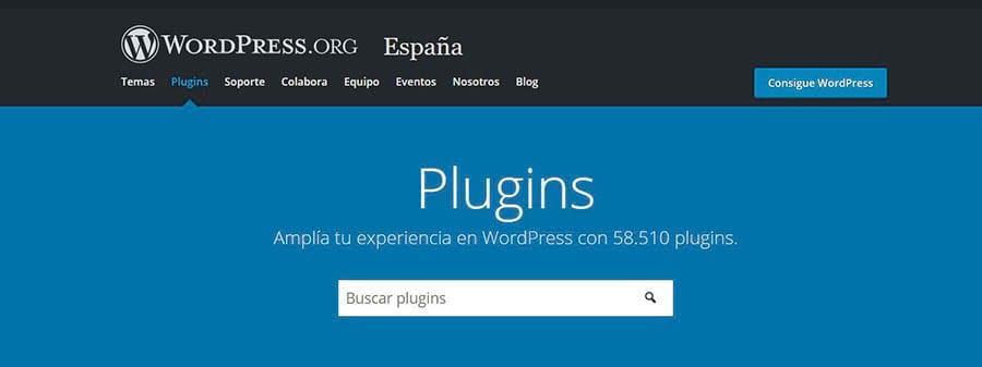 El Directorio de Plugins de WordPress.