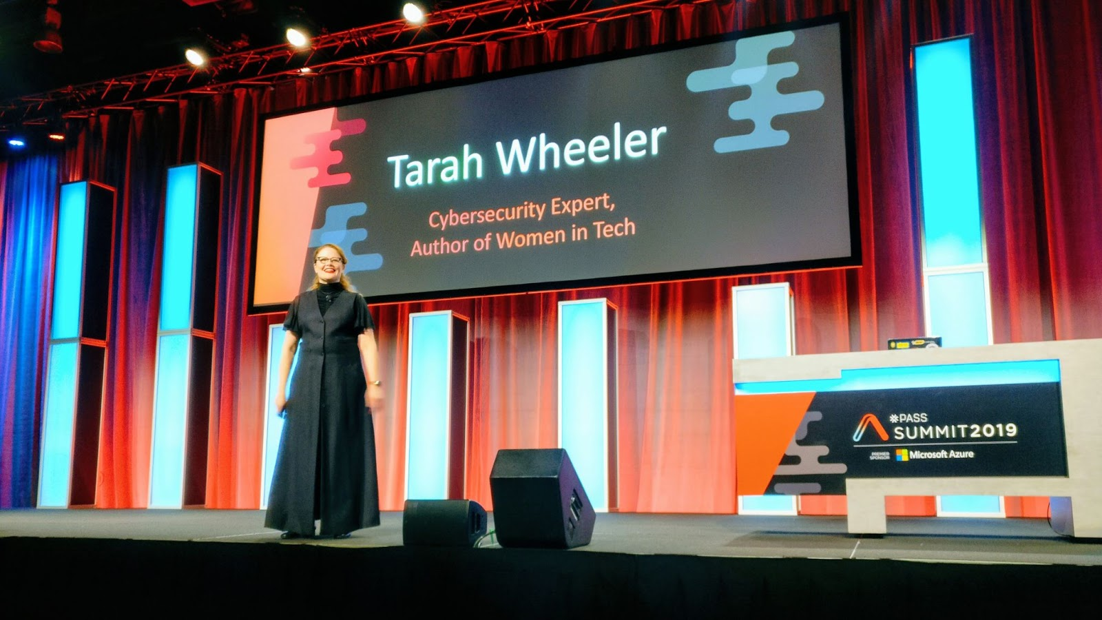 Wheeler speaking at Pass Summit 2019.